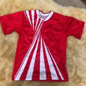 Red white PUMA soccer football jersey shirt top